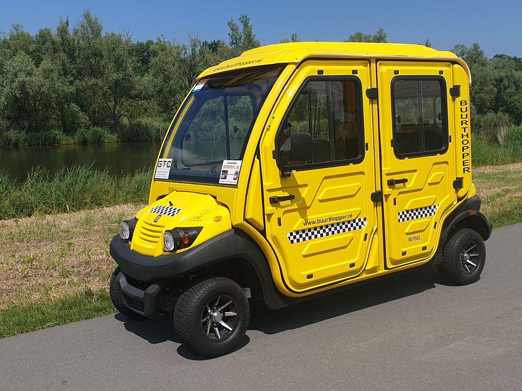 De gele buurthopper van Buurthopper Almere
